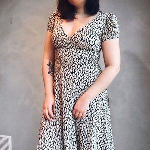 Flirty Black and White Dress